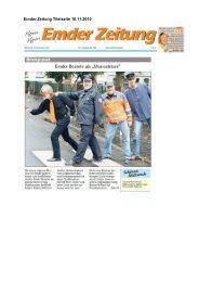 Emder Zeitung Titelseite 10.11.2010 - Landesverkehrswacht ...