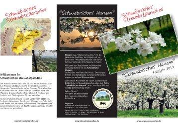 """Flyer """"Schwäbisches Hanami - Frühjahr 2013"""" zum Download (PDF)"""