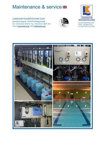Prospekt Wartungsservice - Landwehr Wassertechnik GmbH