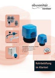 abusanitair ventilair - Abu-plast Kunststoffbetriebe Gmbh