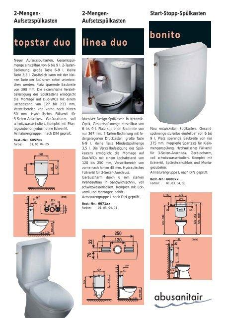 2-Mengen-Spülkasten - Abu-plast Kunststoffbetriebe Gmbh