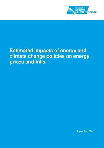 Estimated impacts of energy and climate change policies ... - Gov.uk