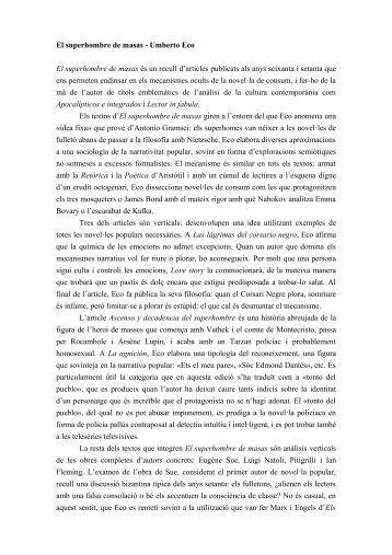 El superhombre de masas - Umberto Eco
