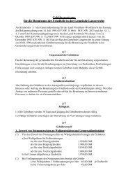 Gebührensatzung für die Benutzung der Friedhöfe in der Gemeinde ...