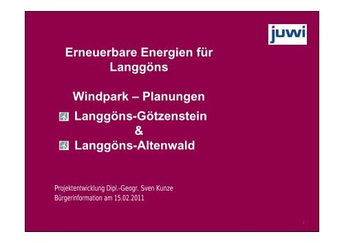 Erneuerbare Energien für Langgöns Windpark