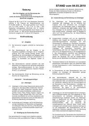 Archivsatzung - Gemeinde Langgöns
