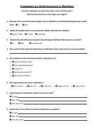 Fragebogen zur Dorferneuerung in Oberkleen