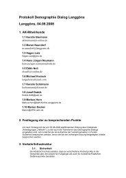 Protokoll Demographie Dialog Langgöns Langgöns, 04.08.2008