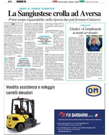 02/06/2008 Poule Scudetto - semifinali - gare di - serie d news
