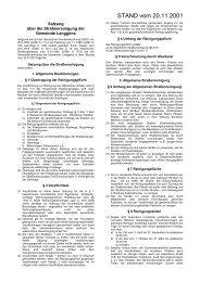 Straßenreinigunssatzung - Gemeinde Langgöns