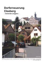 Cleeberg Broschüre - Gemeinde Langgöns