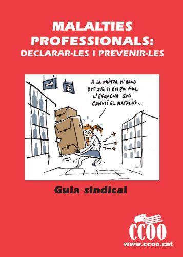 MALALTIES PROFESSIONALS - CCOO de Catalunya
