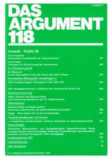 Umwelt-Politik - Berliner Institut für kritische Theorie eV