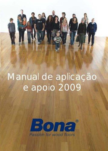 Manual de aplicação e apoio 2009 - resinas bona
