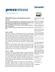 IPEX 2010 Preview on the preprint and print sectors - Dynagraph