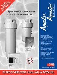 filtros versáteis para água potável - Vemag Tecnologia em Filtração