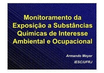 Monitoramento da Exposição a Substâncias Químicas de Interesse ...