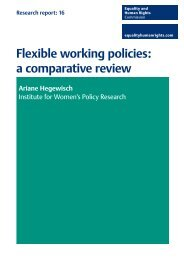 Flexible working policies: a comparative review - Equality and ...