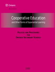 Cooperative Education and Other Forms of Experiential Learning