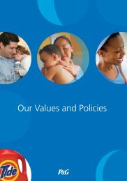 P&G: Our Values and Policies (PDF) - Procter & Gamble
