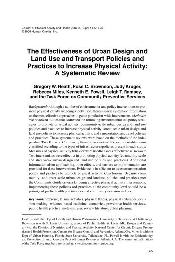 The Effectiveness of Urban Design and Land Use and Transport ...