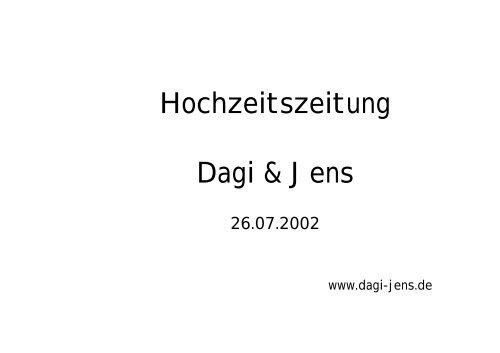 Hochzeitszeitung Dagi Jens Lars Urban
