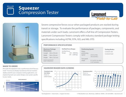 Squeezer Compression Tester