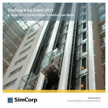 Simcorp KAG Event 2011 Aktuelle ... - adept consult AG