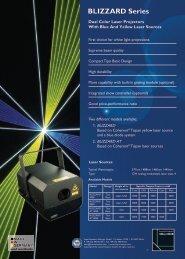 BLIZZARD Series Data Sheet - LaserAnimation SOLLINGER GmbH