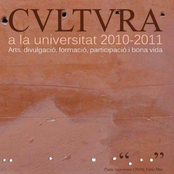 Untitled - Servei d'Activitats Culturals - Universitat de les Illes Balears