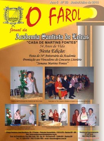 O FAROL 23.cdr - Academia Santista de Letras