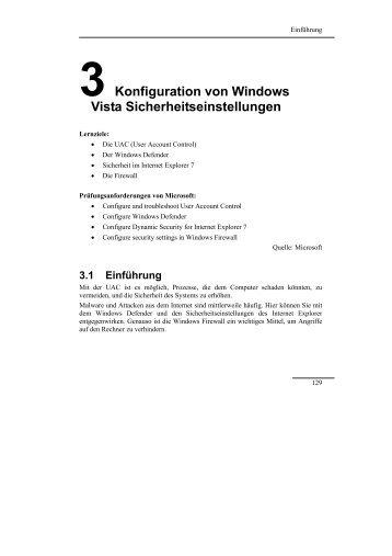 Der Windows Vista MCTS-Trainer