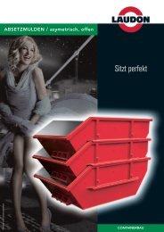 ABSETZMULDEN / asymetrisch, offen - Laudon GmbH & Co. KG
