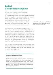 Baustein 3 Journalistische Darstellungsformen - lauter design