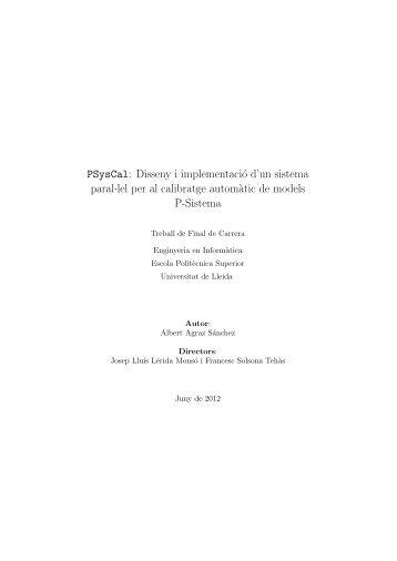 PSysCal: Disseny i implementació d'un sistema paral·lel per al ...