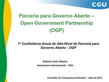 Parceria para Governo Aberto – Open Government Partnership (OGP)
