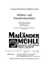 Mühlen- und Naturkostprodukte - abc markets