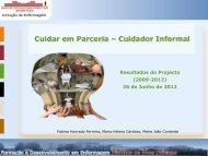 Cuidar em Parceria Cuidador Informal Apresentação 2012 (2