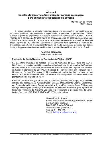 escolas de governo e universidades: parceria estratégica - UFRJ