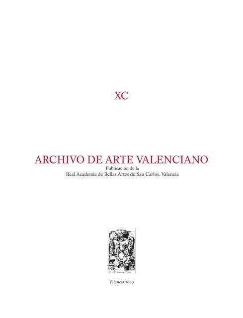 Archivo De Arte Valenciano Xc 2009 Real Academia De