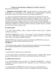 CONTRATO DE PARCERIA COMERCIAL E OUTRAS ... - Arpen-SP