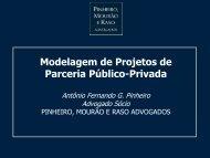 Modelagem de Projetos de Parceria Público-Privada - Pinheiro ...
