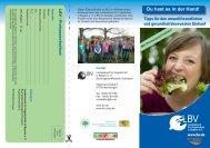 Flyer mit Tipps für den umweltfreundlichen und ... - LBV
