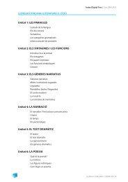 Unitat 1: LES PARAULES Unitat 2: ELS SINTAGMES I ... - Digital-Text