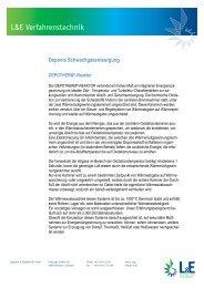 L&E – Deponie Schwachgasentsorgung
