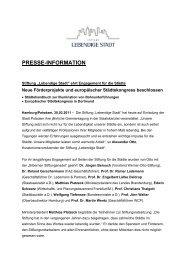Pressemitteilung (PDF) - Lebendige Stadt