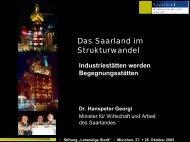 Das Saarland im Strukturwandel - Lebendige Stadt