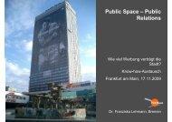 Public Space – Public Relations - Lebendige Stadt