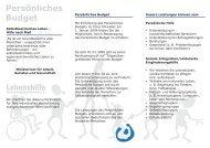 Flyer – Persönliches Budget - Lebenshilfe Kreisvereinigung ...