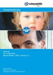 Satzung Lebenshilfe:Layout 1 - Lebenshilfe Bühl eV